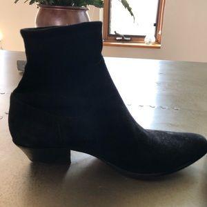 Tamara Mellon black suede ankle boots!